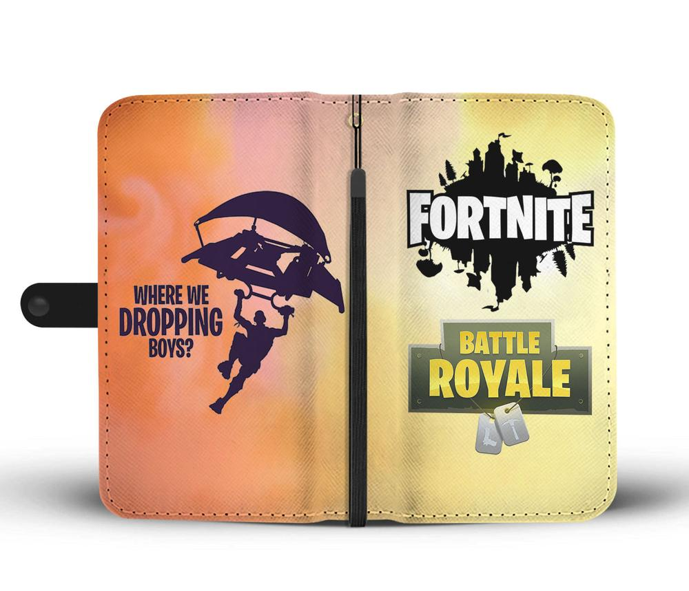 Where We Dropping In Fortnite Google Awesome Fortnite Where We Dropping Boys Phone Wallet Case Awesome Shopping Store