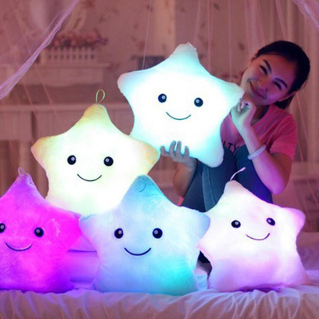 Luminous Pillow in the Shape of Star - Led Cushion for Kids