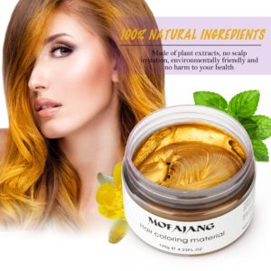 Hair Wax Color Styling Pomade Dropshipping Discounted Price Temporary Hair Dye Disposable Fashion Molding Coloring Mud Cream 2