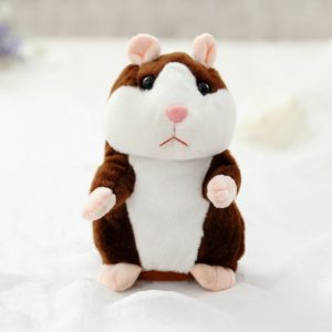 Dropshipping Promotion 15cm Lovely Talking Hamster Speak Talk Sound Record Repeat Stuffed Plush Animal Kawaii Hamster Toys 2