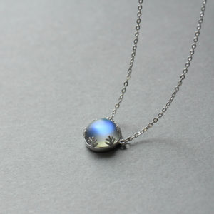 Thaya 55cm Aurora Pendant Necklace Halo Crystal Gemstone s925 Silver Scale Light Necklace for Women Elegant Jewelry Gift 4