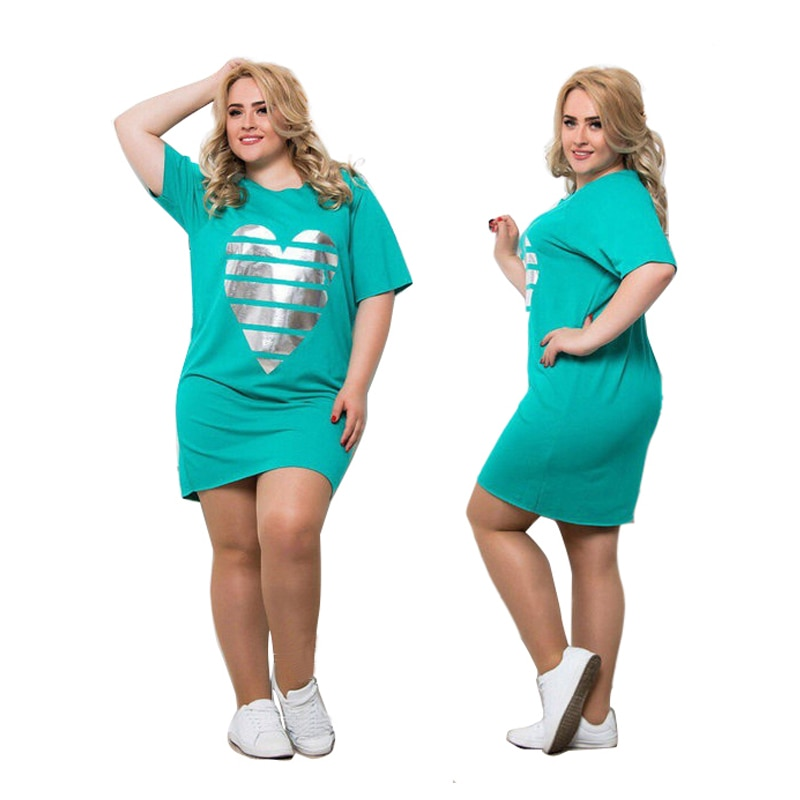Plus Size - Above Knee Mini Dress